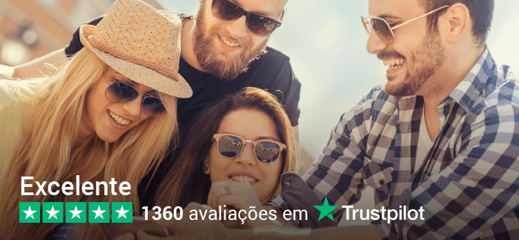 TEMOS A MELHOR REPUTAÇÃO DE ACORDO COM TrustPilot