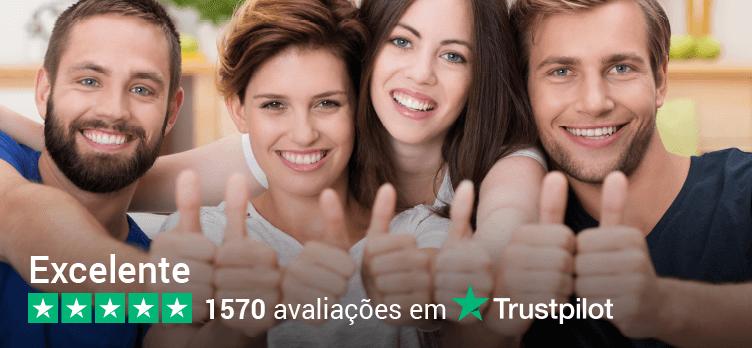 TEMOS A MELHOR REPUTAÇÃO DE ACORDO Trustpilot